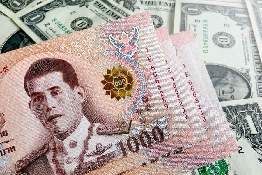 The Thai Baht Slowly Weakening Against