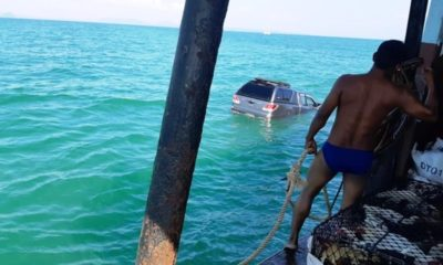 Pickup Rolls off Ferry into the Andaman Sea