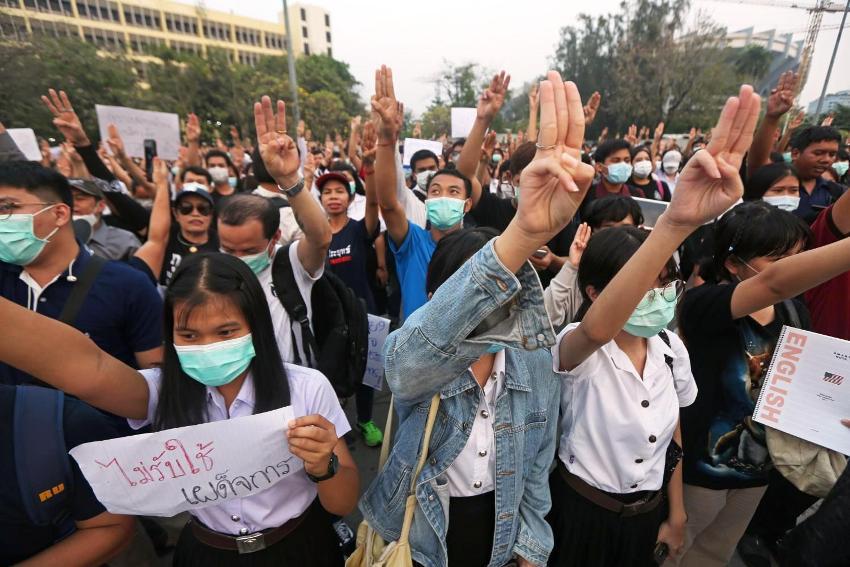 Pro-democracy students