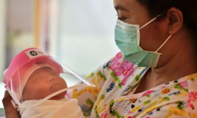 Thai Nurses make face masks for newborns