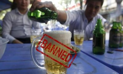 Alcohol sales banned in entire country