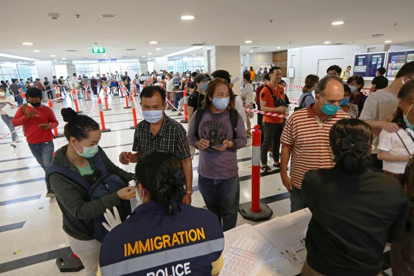Immigration ,Foreigners, visa extentions, Thailand