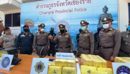methamphetamine pills seized in Chiang Rai