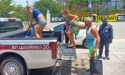 foreign tourists arrested for swimming in Pattaya