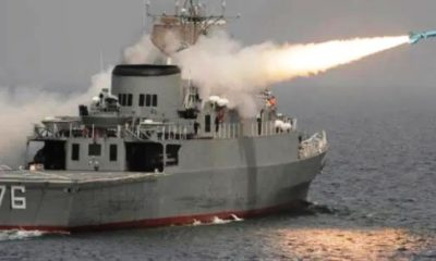 Iranian Navy Sinks One of its Own Ships with Anti-Ship Missile