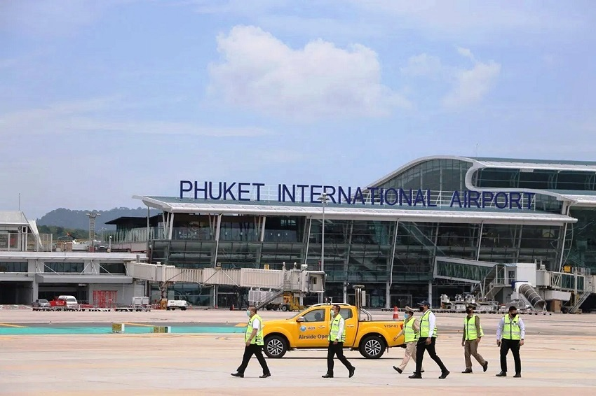 phuket-airport, civial aviation authority, covid-19 coronavirus, Dangerous Disease Zones