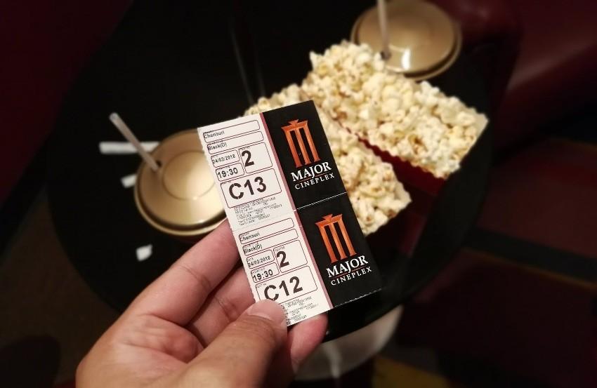 Major Cineplex, movie Theaters, popcorn, Thailand