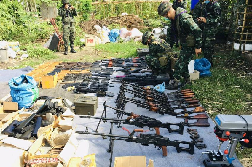 police,weapons, cache, northern Thailand