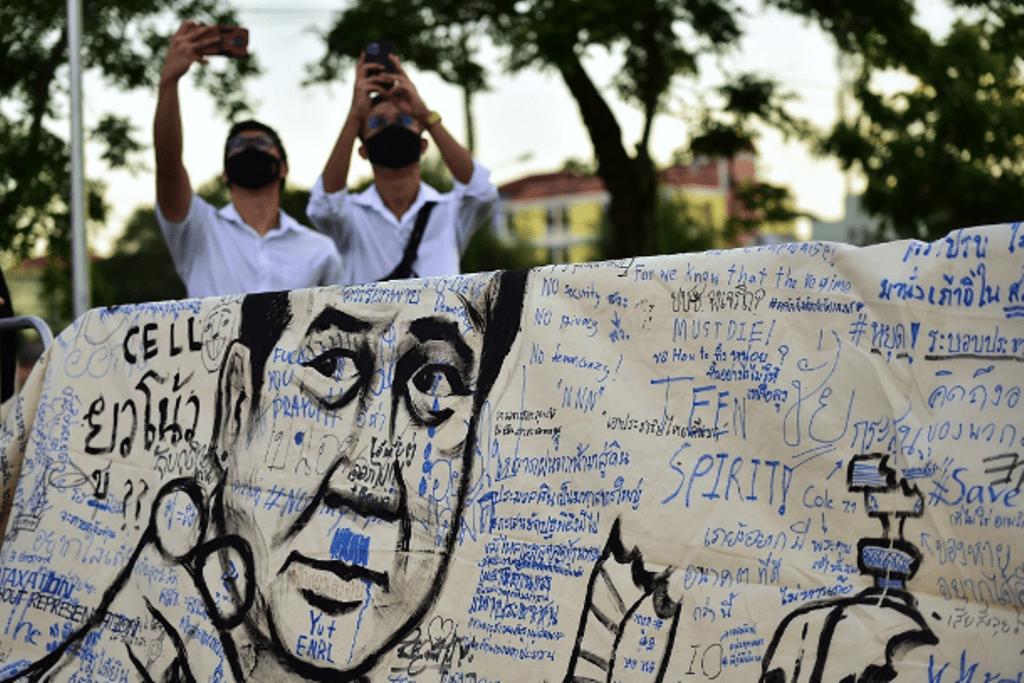 Thailand, Anti-government protesters, Main stream Media