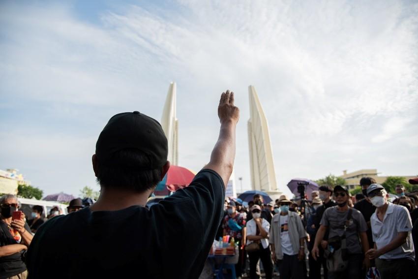 Pro-democracy, Bangkok, Group, Rally
