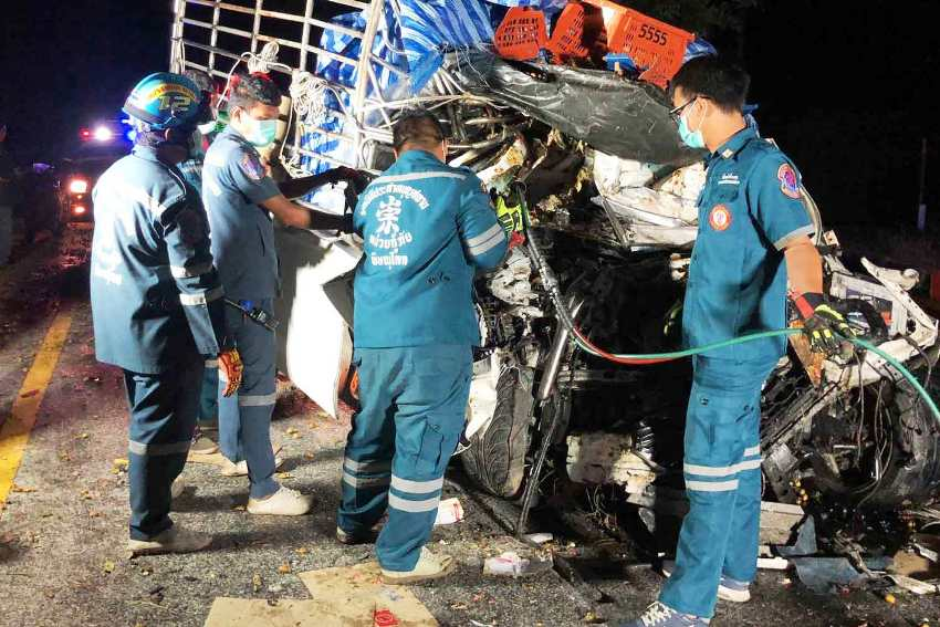 Pickup Trucks, Northern Thailand, Collision