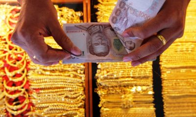 Gold, Thailand trading, US dollar