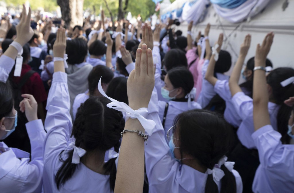 student protesters thailand