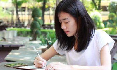 Thai university students, Writing English, Thailand