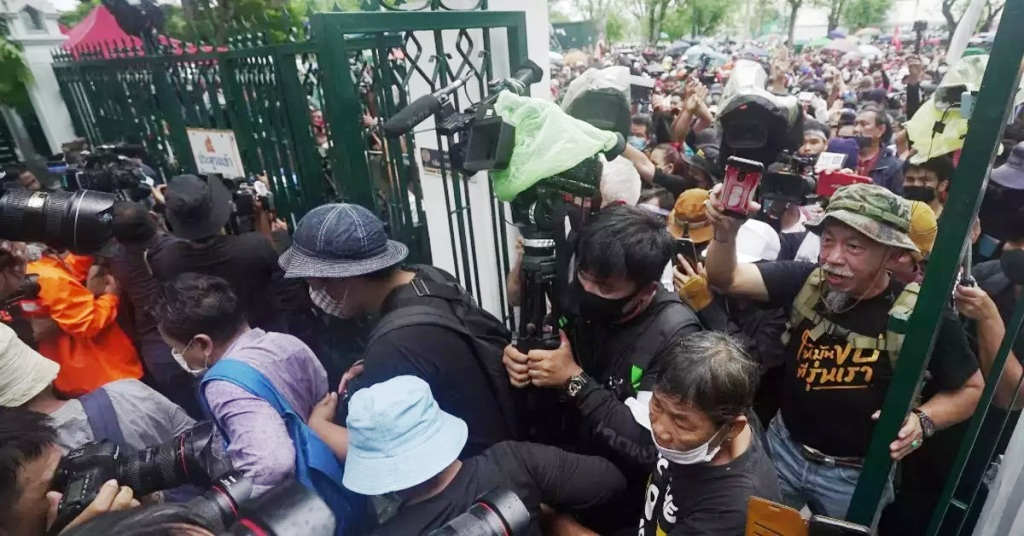 Anti-government protesters, Thailand, Thammasat University