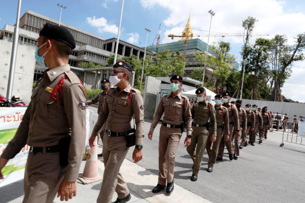 Bangkok, Police, student Rally