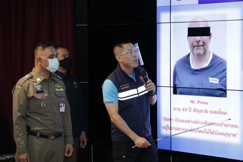 Blacklisted Blegian arrested, Immigration,bangkok