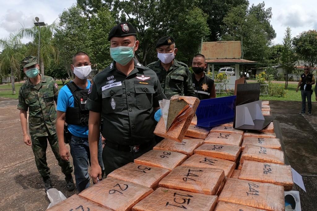 Border Police,Marijuana, Mekong River, Thailand
