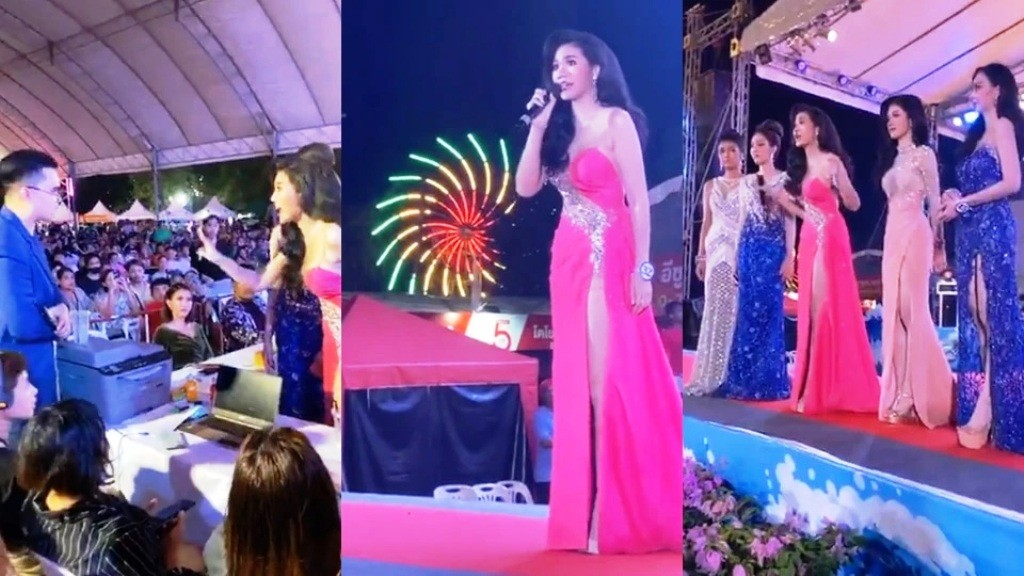Beauty Pageant ,Miss Samila 2020, ends in chaos, Thailand