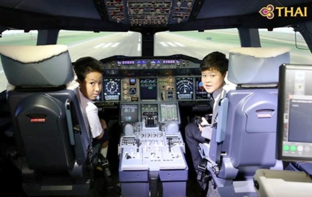Thai Airways flight simulator, Thailand