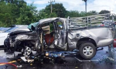3 Killed, 2 Critically Injured in Head-on Collision in Northeastern Thailand, deadly roads Insurance