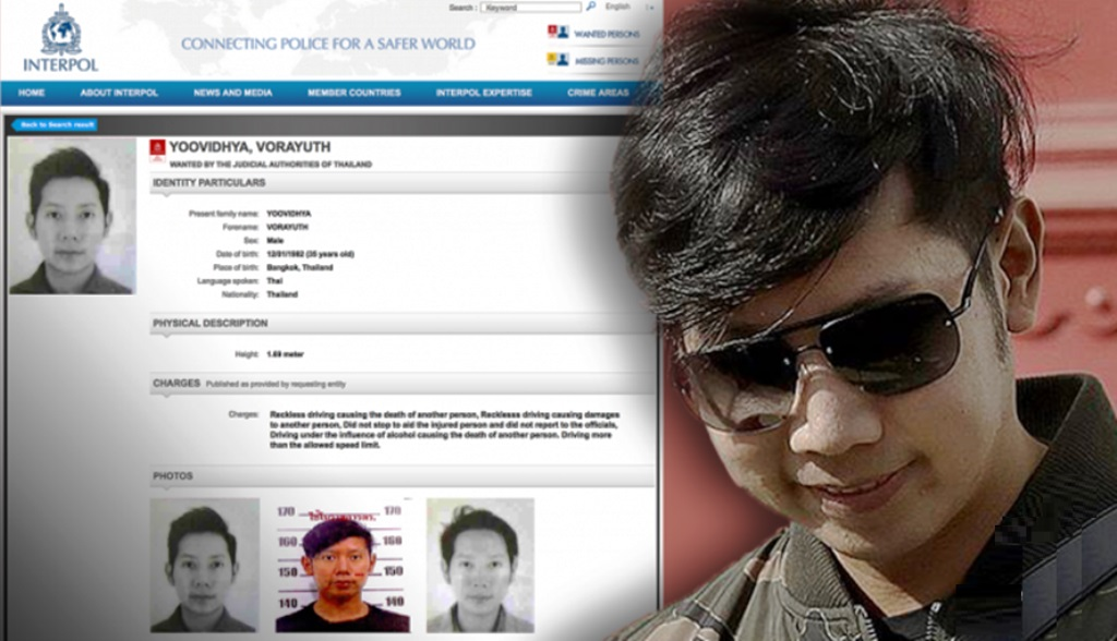 """Interpol Red Notice Issued for Red Bull Heir Vorayuth """"Boss"""" Yoovidhya"""