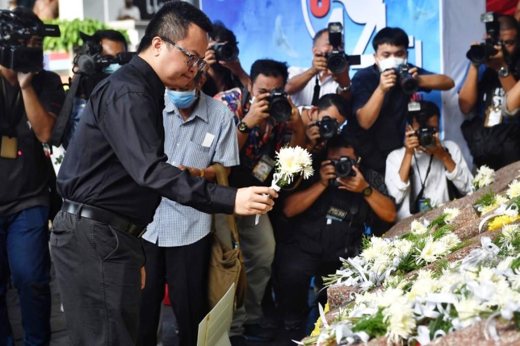 Thai Protest Leaders Commemorate Anniversary of Student Massacre at Thammasat University
