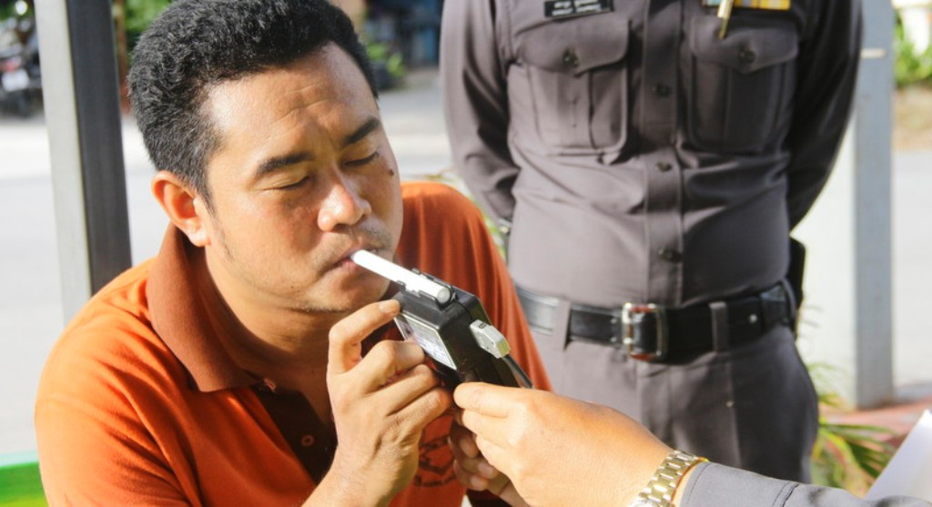 Thailand, Thai, Police Chief, Drunk Driving Tests at Checkpoints