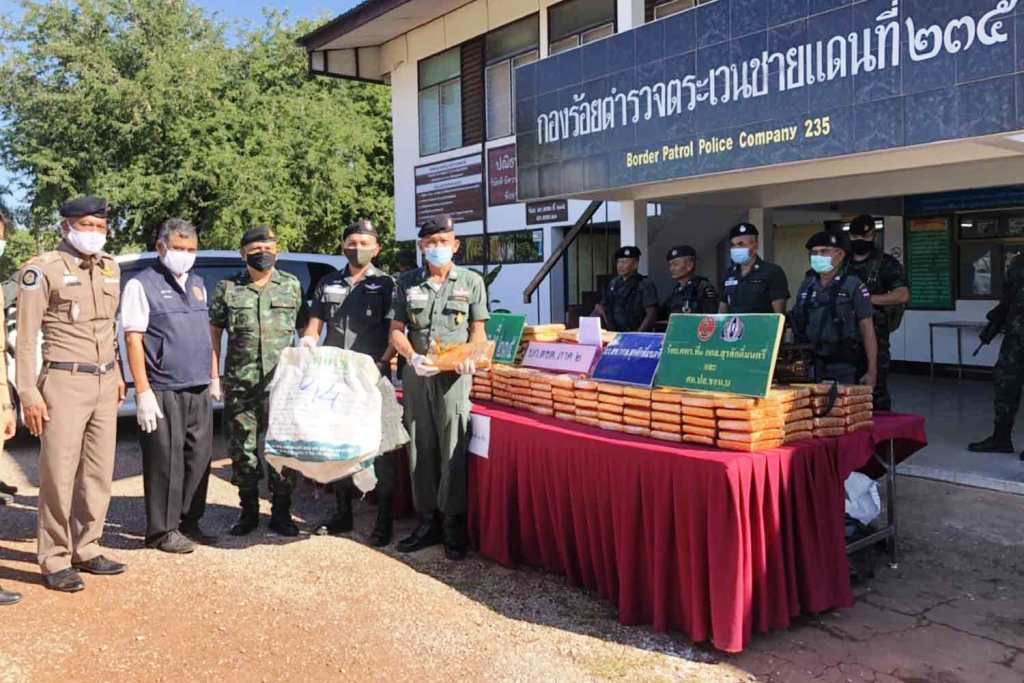 Border Police Seize 480 kilograms of High Grade in Northeastern Thailand