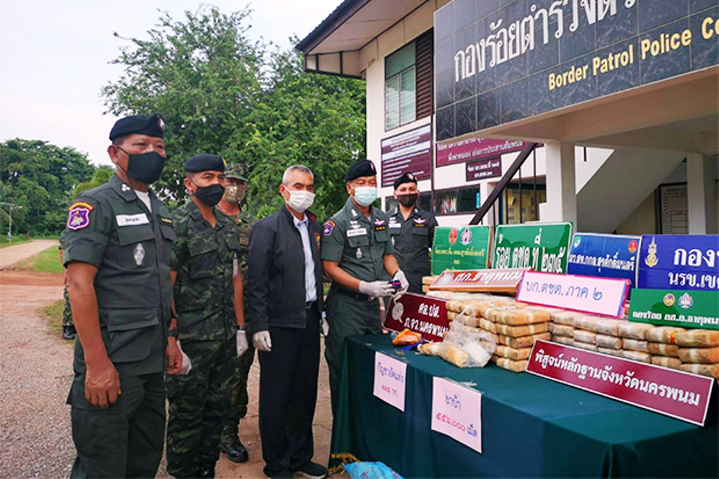 Border Police Seize 480 kilograms of High Grade in Northeastern Thailand, Nakhon Phanom