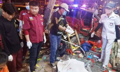 Car Crashes into Roadside Restaurant in Chiang Rai, 1 Dead, 7 Injured