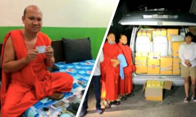 Chiang Rai Senior Monk Busted for Transporting Millions of Meth Pills