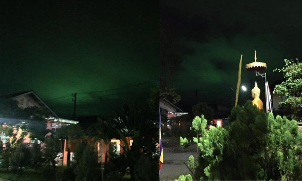Eerie Green Glow in Night Sky Mystifies Residents in Thailand
