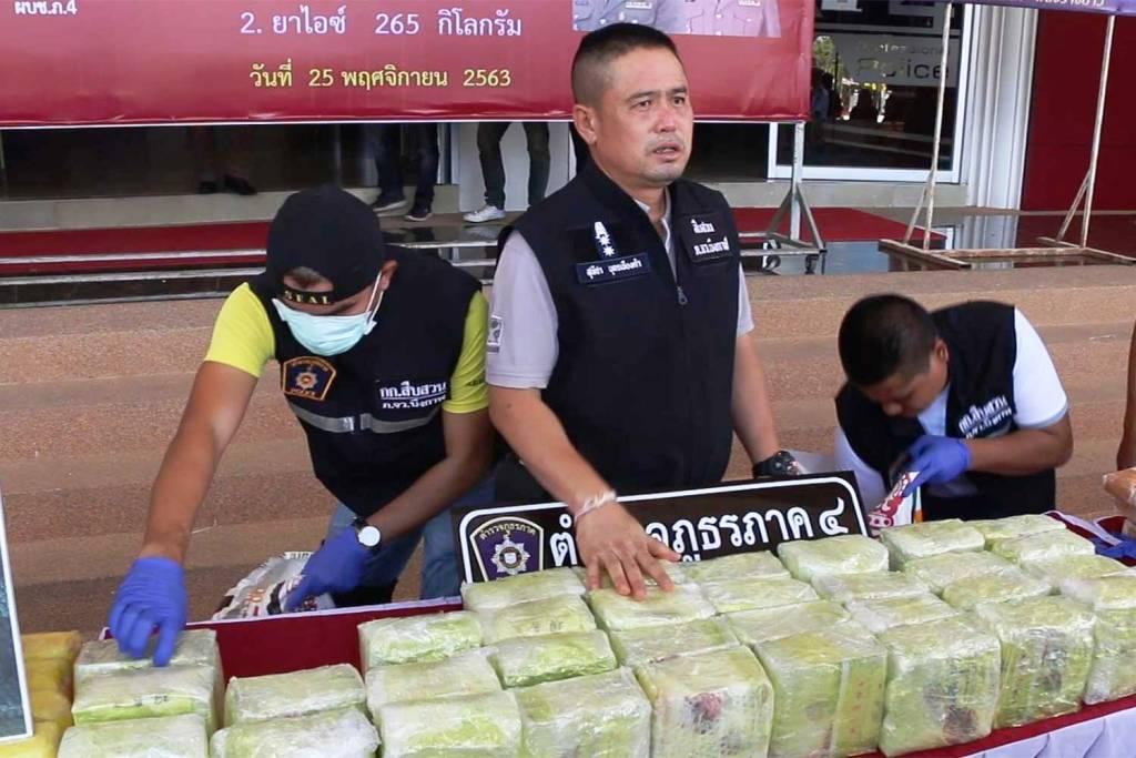 Huge Cache of Methamphetamine Seized in Northeaster Thailand
