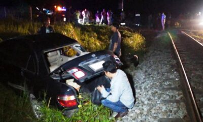 Motorist Survives with Minor Injuries After his Car Struck by a Train