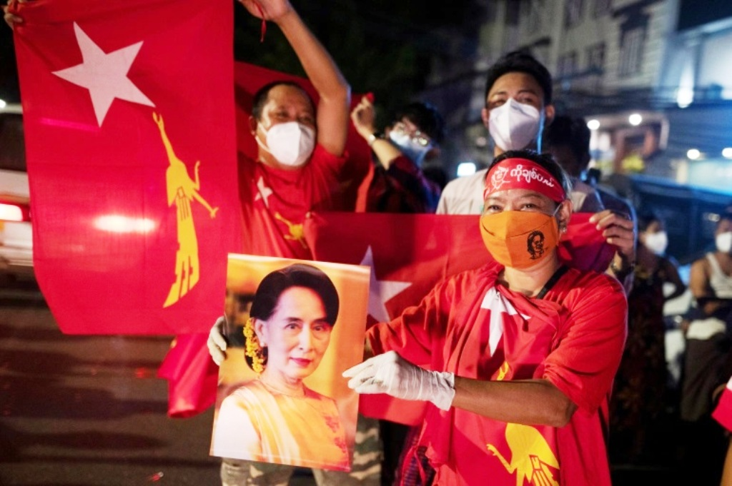 Election, Myanmar's Aung San Suu Kyi's Ruling Party Claims Election Victory