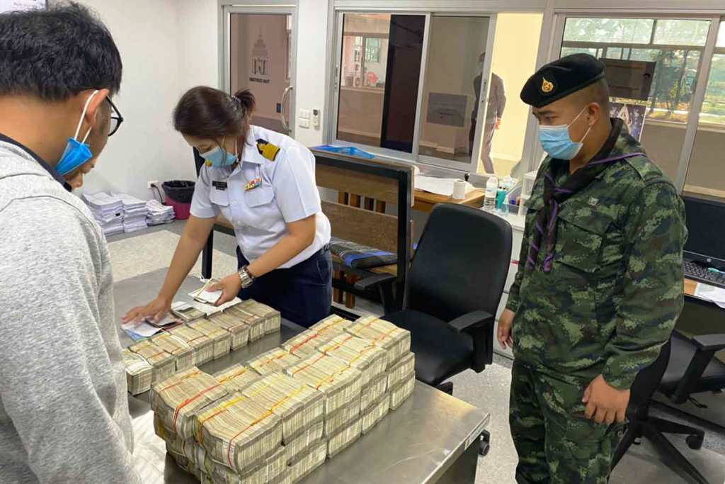 Parcel Containing Millions of Rupees Discovered on Bus to Chiang Rai