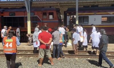People Horrified after Thai Monk Steps into the Path of Train