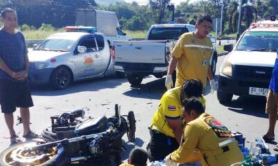 Thailand,Speeding Teen Motorcyclist Hits an Kills Elderly Monk Receiving Food