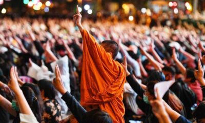 Thailand, Monks,Anti-Government, Protests