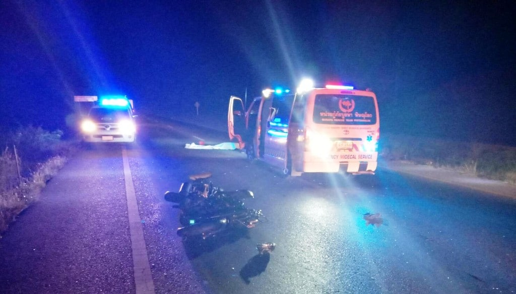 Motorcyclists Found Run Over on Northern Thailand Highway