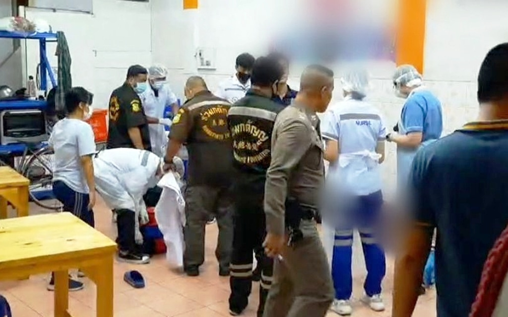 police, Man Gunned Down in front of Wife and Baby at Bangkok Noodle Shop