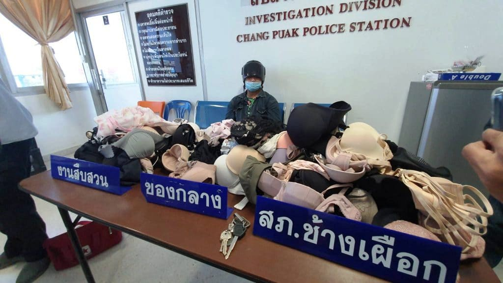 Pervert in Northern Thailand Arrested With 2 Years of Stolen Underwear