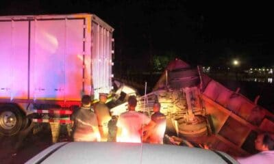 Pickup Truck Driver Killed After Colliding with Toppled Freight Truck