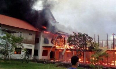 Temple Fire Damages 700 Year-old Statue in Northeastern Thailand