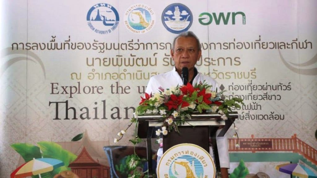 Tourism Minister Gives Bleak Outlook on Thailand's Foreign Tourism