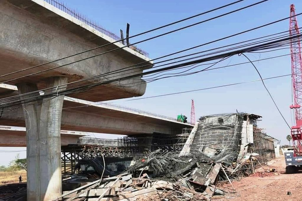 project,10 Injured after Elevated Road Section Collapses in Northeastern Thailand