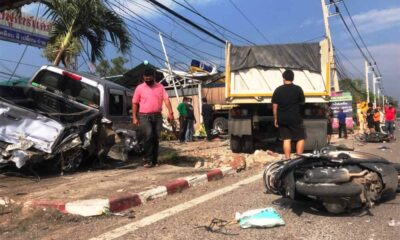 Trailer Truck Crashes into Existing Accident Scene Injuring Policeman