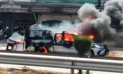 Drug Detainee Torches Police Truck in a Bid to Escape Justice