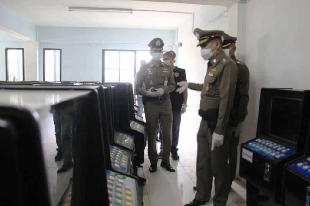 Over a Hundred Illegal Slot Machines Seized from Pattaya Warehouse